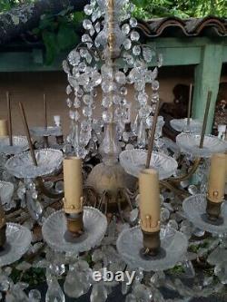 Grand lustre à pampilles à 24 lumières fin du XIXe Siècle