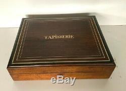 Grande boite a tapisserie Coffret Napoléon III palissandre Boulle XIX siècle