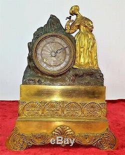 Horloge. Bronze Ou Moulu. Mecanisme Paris . Napoléon Style Iii. France Xixè