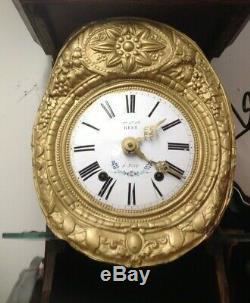 Horloge Comtoise Reyt Complete Mecanisme Xix° Modele Rare Fait A Nice Tbe