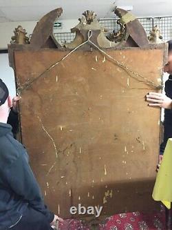 IMPORTANT MIROIR a PARECLOSES XIXe 19e Style NAPOLEON III Stuc Dore Blason Art