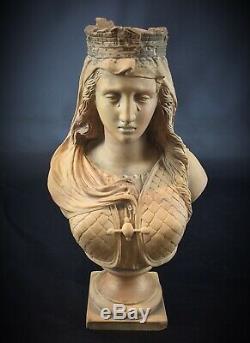 JEAN LOUIS GREGOIRE XIXe RARISSIME sculpture terre cuite Metz 1840-90 signé