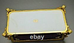 JOLI COFFRET TAHAN CUIR décor doré au Fer & 3 faces émaillées émail XIXe vitrine