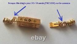 JOLI FERMOIR OR 18CT XIXe NAPOLEON III French 18K Solid Gold Clasp 19thC