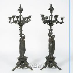 James Pradier (1790-1852), paire de candélabres, XIXe