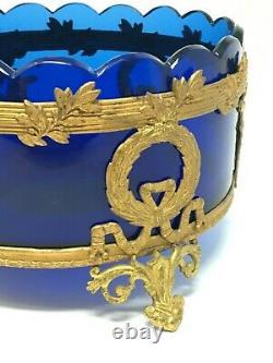 Jardinière Style Empire Napoléon III Cristal & Laiton XIX EME Antique Crystal