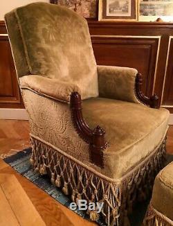 Magnifique fauteuil confortable avec son bout de pied /XIX siècle/très bon état