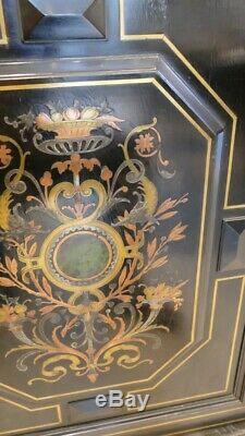 Meuble à Hauteur dAppui Napoléon III, Marqueterie Boulle, Laiton Cuivre, XIX