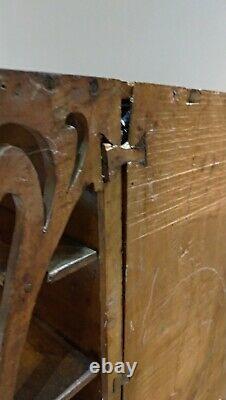 Meuble de maitrise-miniature fin XIXe en bois/Meuble de poupée/Meuble en découpe