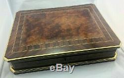 Napoléon III french box Boite à Jeu Game marqueterie signé SORMANI XIXe