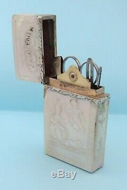 Nécessaire de couture voyage miniature NACRE ancien XIXe French Sewing etui