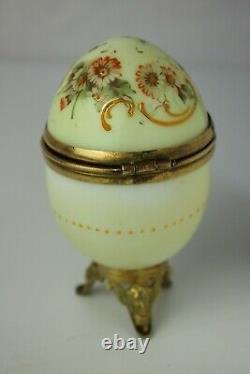 Oeuf emaille, peint, Napoléon III, XIXe siècle, boite à bijoux