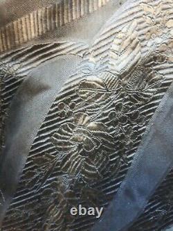 Old costume ancien soie châle grenadine Napoléon 3 XIXe Arles Provence Séville
