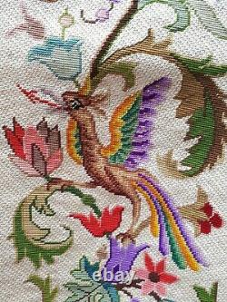 Old tapestry arrazzo tapisserie ancienne Aubusson griffons Napoléon 3 XIXe
