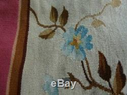 Old textile ancien tapestry Aubusson tapisserie Louis XV Napoléon 3 XIXe 2