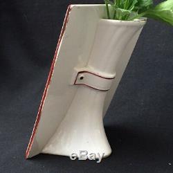 PORTE MENU / Vase Ancien LONGWY Fleurs Mésanges Hirondelles Décor Peint Main XIX