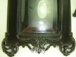 Paire De Cadres Napoleon III Ebonite XIX Verres Bombes Origines