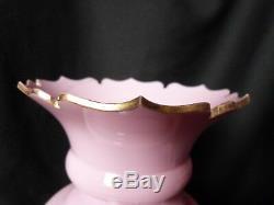 Paire de vases balustre en verre opalin à cabochons fin XIX Napoléon III