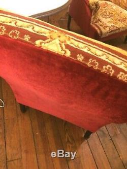 Paire fauteuils Napoléon III XIXe siècle fauteuil 19e crapaud