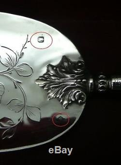 Pelle a tarte argent massif XIX eme napoléon III sterling silver pie server 19th