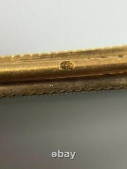 Pendentif Or XIX Eme Travail De Cheveux Napoleon III Poincon Tete D Aigle F72