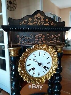 Pendule Horloge 4 Colonnes Napoléon III Louis XVI XIX Ème Clock Pendulum