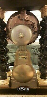 Pendule Horloge 4 Colonnes Napoléon III XIX ÈME Clock Pendulum