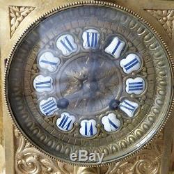 Pendule, Horloge Napoléon III En Bronze XIX ème