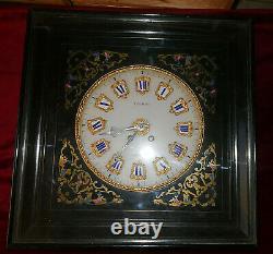 Pendule Horloge Oeil de Boeuf XIXe Peyraudel Carcassonne Marquetée Napoleon III