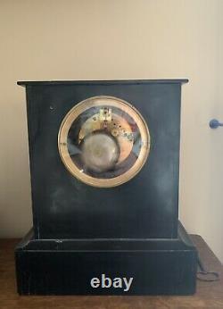 Pendule Horloge ancienne en marbre mouvement BROCOT XIXe