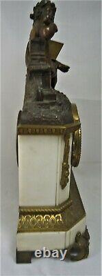 Pendule XIXe bronze XIXe Napoleon III mouvement fils à réviser réf/A30/30