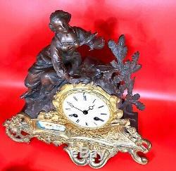 Pendule horloge C. DETOUCHE Horloger de Napoleon III Paris XIX Eme Siecle