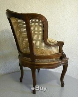 Petit Fauteuil Cabriolet Louis XV Pour Enfant Epoque XIX Siècle Napoléon III