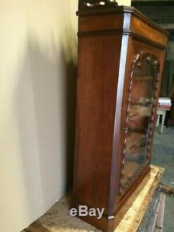 Petite vitrine Napoléon III en acajou Epoque XIX