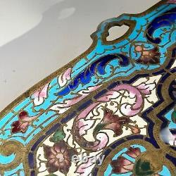 Plateau vide poche en bronze doré émaux cloisonnés XIXe