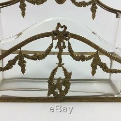 Porte Lettres Napoleon III En Bronze Enchasse Decor Louis XVI XIX Eme H765