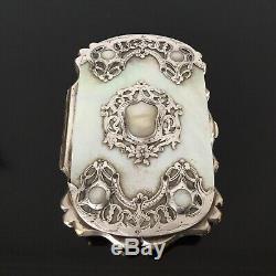 Porte Monnaie Nacre et Argent XIXè Victorian French Silver MOP Purse 19thC