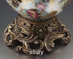 Pot Couvert En Gres Emaille A Monture En Bronze Dore Fin Xix° Siecle