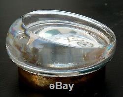 Presse papier en verre boussole et Calendrier, XIXe French Paperweight