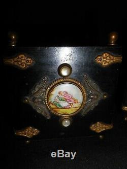 RARE PAIRE JARDINIÈRE PLAQUE PORCELAINE Napoléon III XIX ème 19 e ART POPULAIRE