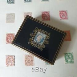 Rare Boîte A Timbres Signée TAHAN Napoléon III Marqueterie Milieu XIXè