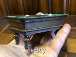 Rare Boîte Figurant un Billard Epoque Napoléon III Bronze XIX e Antique Box 19th