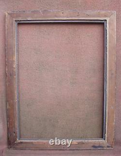 Rare cadre laqué noir Napoléon III XIXe siècle feuillure 66 x 49 cm
