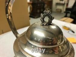 SAMOVAR Metal Argente XIXe Napoleon III service the cafe theiere bouilloire art