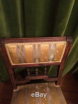 Salon de style Louis XVI canapé, chaises et fauteuils, époque Napoléon III, XIXe