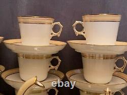 Service à café en porcelaine de Paris signée G. B. XIXe Napoléon III