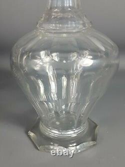 Service de nuit cristal Carafe, drageoir, verre, flacon & plateau Fin XIXe s