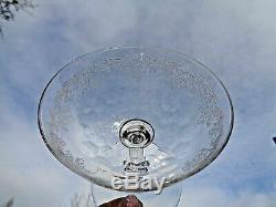 Sevres Clichy 12 Wine Glasses Weingläser Verre A Vin Cristal Gravé 19éme XIX Aj