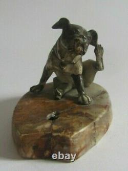 Sonnette de table bronze de VIENNE, ELECTRIQUE FIN du XIXe BULLDOG BELL PUSH