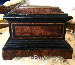 Superbe GRANDE Boite à bijoux marqueterie NAPOLEON III XIXe 19TH Box Jewels